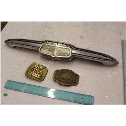 Chevrolet Auto Emblem W/ 2 Belt Buckles