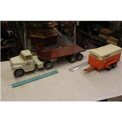 Ertl Metal Truck And Trailer W/ UHaul Trailer