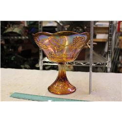 Large Carnival Glass Serving Dish