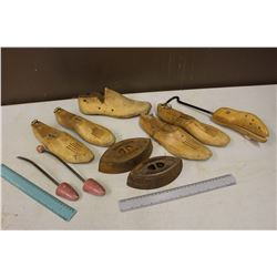 Vintage Wooden Shoe Stretchers & Irons