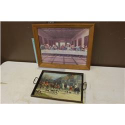 Framed Picture & Picture Tray