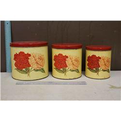 Vintage Floral Cannister Set