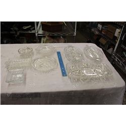 Lot Of Crystal Serving Dishes