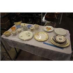 Lot Of Assorted Vintage Dishware