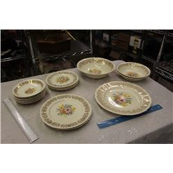 Partial Set Of DuBarry 22K Gold Dishware, British Empire Ware