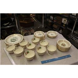 Two Similar Partial Sets Of 22K Gold Dishware (Dogwood And Tudor Rose)