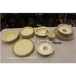 Large Lot Of Gold Accented Dishware (Lots of Matching 22K)