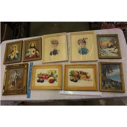 Lot Of Vintage Framed Pictures