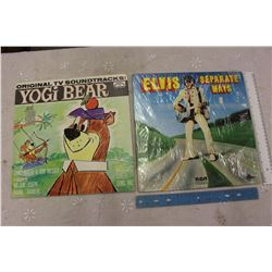 "Elvis ""Separate Ways"" Record And Yogi Bear Tv Show Record"