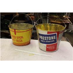 1 Gallon Cone Anti Freeze Pails (2) (Custom Made) (Preston, Cryco-Glycol)