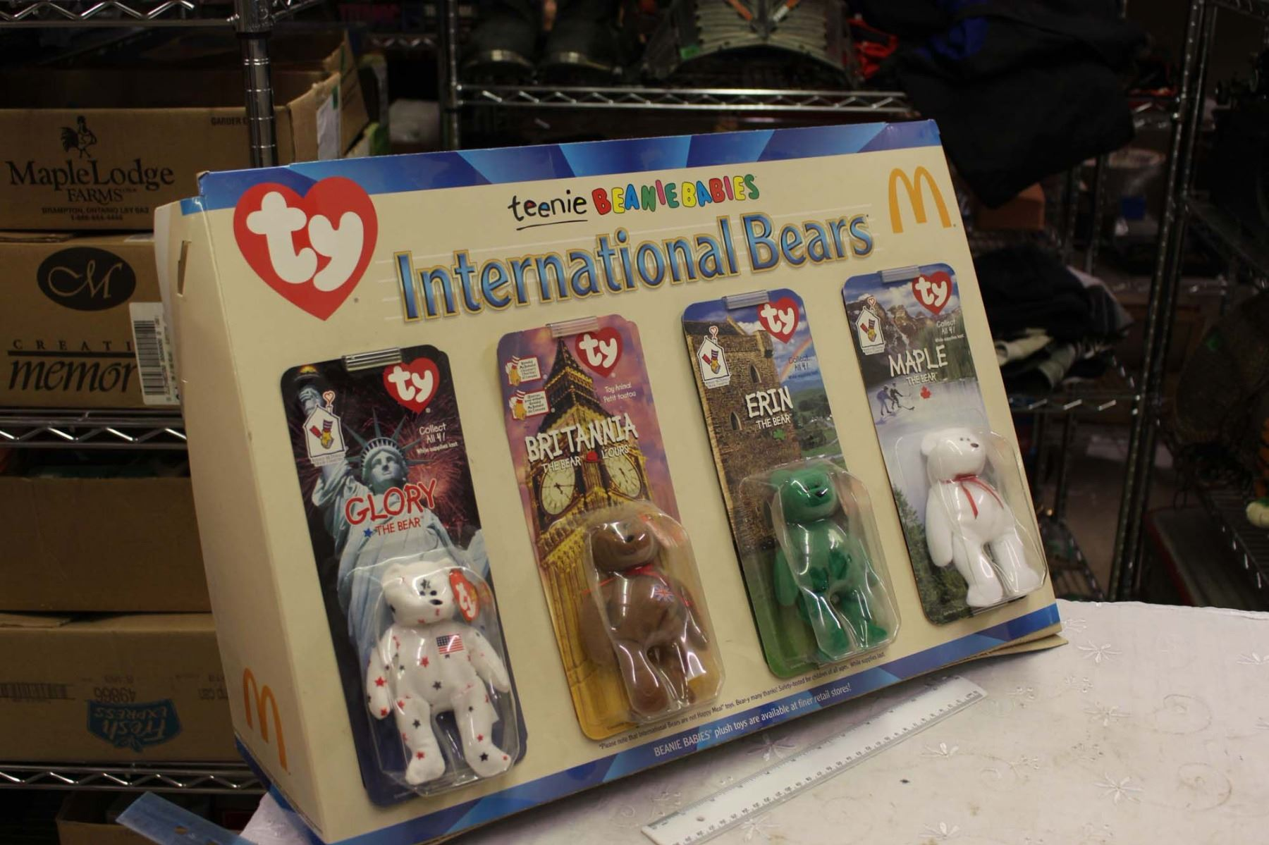 McDonalds International Bears Display, Tennis Beanie Babies, Original Store  Display