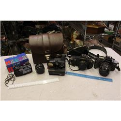 Lot Of Vintage Cameras (Canon, Kodak, Etc)