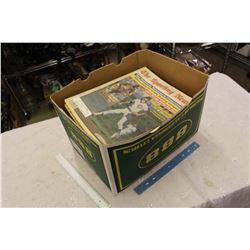 Box Full Of Unsorted Sports Newpapers