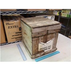 Vintage Wooden Egg Crate