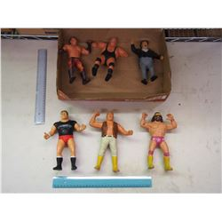Vintage Wrestling Figurines (6)
