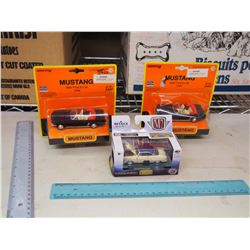 Mustang 1/43 Diecast Cars (2) W/ 1/64 1953 Ford Crestline Victoria