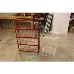 5 Shelf Display Rack And A 3 Shelf Display Rack