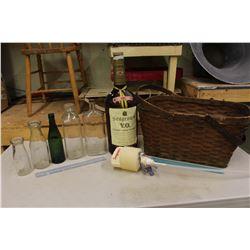 Pioneer Basket, 133 Oz Seagrams VO & Assorted Bottles