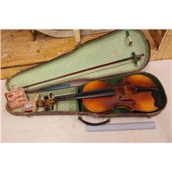 Rare Antique Violin w/Alligator Skin Case & Bow