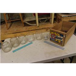 Kelowna Fruit Crate & An Assortment of Railway & Lantern Chimneys