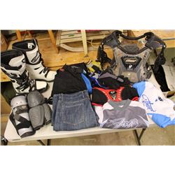 Lot of Dirt Biking Gear & Equipment (See Photos for Sizes)