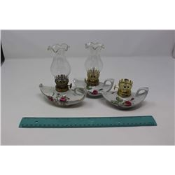Genie Finger Lamps (3) (1 Has No Chimney)