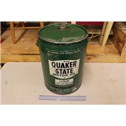 Quaker State Motor Oil Pail (5 Gallon)