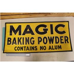 "Magic Baking Powder Advertising Sign (34""x 16"")"