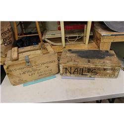 Vintage Ammo Mortar Crates (2)