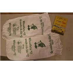 1946 Robbin Hood Flour Mills Prevent Accidents Book& Flour Bags(2)