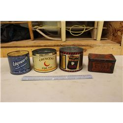 Antique Tobacco Tins