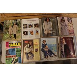 Lot of Eaton's & Sears Cataloges(8): 1961, 1964, 1965, 1968, 1970's