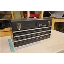 Sears Craftsman 3 Drawer Tool Box (Like New) w/Tools Inside
