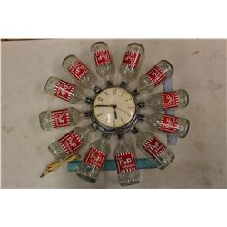 "Vintage Ukrainian Hand Made ""The Pop Shoppe"" Wall Clock"