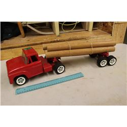 1950's Structo Truck & Log Trailer