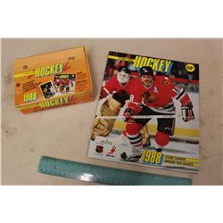 Full Box of 1988 O-Pee-Chee Hockey Yearbook Stickers & Sticker Yearbook