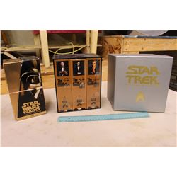 VHS SETS – Star Wars Trilogy, Star Trek The Screen Voyages & The Godfather I, II & III.