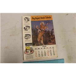 1960 Roy Rogers Ranch Calendar (Complete)