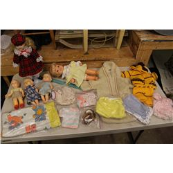 Vintage Dolls (5)(1 Comes w/Accessories & Clothing)