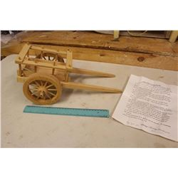 Wooden Red River Cart