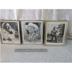 Celebrity Photos: Wilf Carter, Hand Snow& Davy Crockett