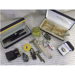 Misc Collectibles: Tins, Sharpeners, Razor, Jewellery, Etc