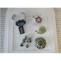 Glitzy Rhinestone & Carnival Glass Jewellery