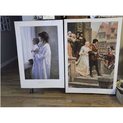 """Mother & Son Print by R.Duncan (20""""x 26"""")& Call to Arms Print by E.Leighton (26""""x 39"""")"""