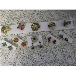 Colored Rhinestone & Crystal Jewellery (1940's-50's)