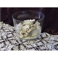 Trifle Bowl w/Sea Shells (Some Mother of Pearl)