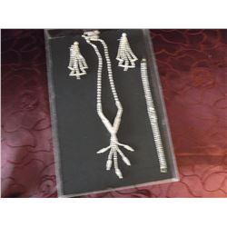 Bridal/Prom Jewellery, Swaroski Crystal Necklace Set & Bracelet