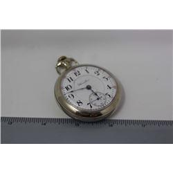 Hamilton Lancaster Railroad Pocket Watch, 17 Jewel, Working, With Safety Set