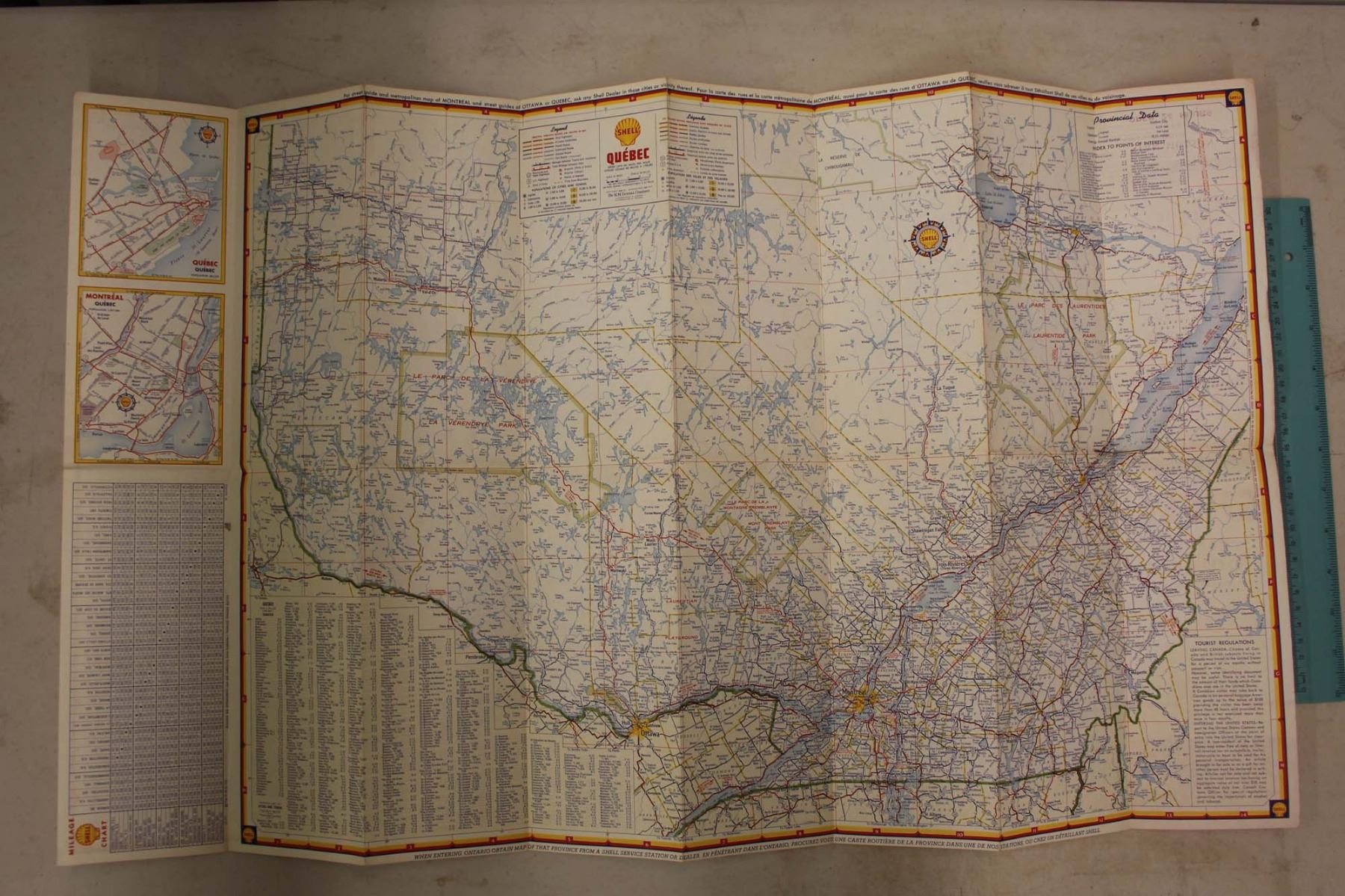 Condition Routiere Quebec >> Shell Map Of Quebec Maritime Provinces Great Condition