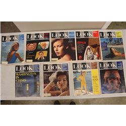 Lot Of 1960's Look Magazines (9)